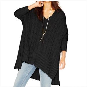 Free people 'Easy V' cable knit tunic sweater
